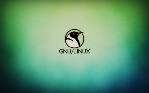 Simple GNU/Linux Wallpaper by Dablim
