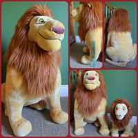 ( The Lion King ) Mufasa Rare 32 Tall Plush by KrazyKari