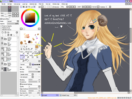 wip gaia commission by Louie-chan
