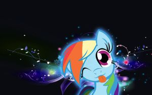 RainbowDash Wallpaper by RockCandy01