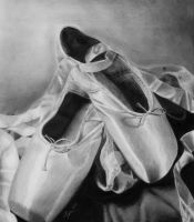 ballet shoes by tinaperko