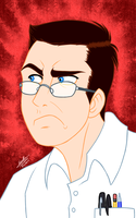 AVGN's Ultra-Angry face - Disney Style by samusmmx