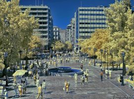 A day at the city (HDR, IR) by agelisgeo