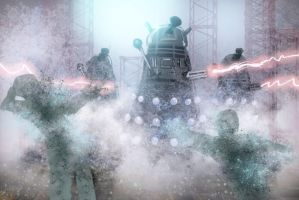 Robots in the mist by FabianCobos