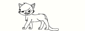 unfinished cat for Ravensong131 by cocobeanc