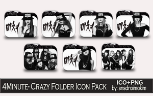 4Minute-Crazy Folder Icon Pack by SNSDraimakim