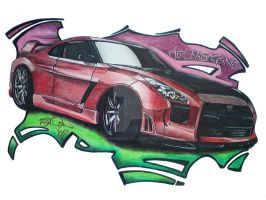Nissan GTR by SIMPSONARTISTRY