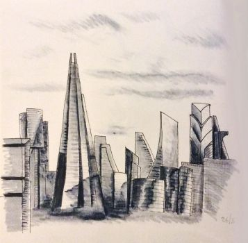 Daily Sketch - The Towers of London by Snazz84