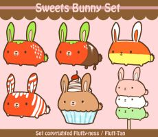Sweets Bunny Set by Fluff-Tan