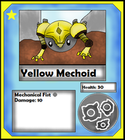 Yellow Mechoid Card (Adopt) by Dianamond
