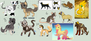 FREE ADOPTABLES by iCassieWolfe