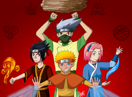 Naruto - Avatar Crossover by meia15