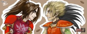 Ling Tong and Gan Ning by Black-Orochimaru