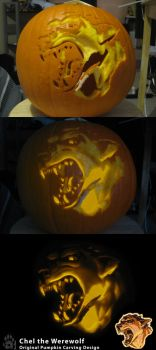 Chel the Werewolf- Pumpkin by CanineHybrid