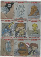 TOPPS Star Wars cards, pt. 6 by katiecandraw