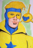 Booster Gold and Skeets by seanpatrick76
