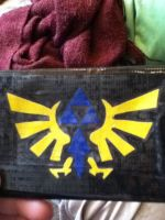 Tri-force duct tape wallet by BloodPuppetForLife