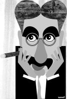 Groucho Marx Caricature by Weefsmith