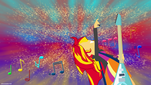 Rainbow Rocks Sunset Shimmer Wallpaper by Ahsokafan100