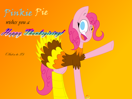 .:Pinkie Pie wishes you a Happy Thanksgiving:. by Chocolate-Bonanza