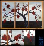 La Vie en Rouge: inspired by Abstract Painting by BurningArtist