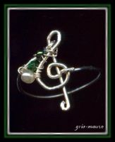 treble clef - ring by gris-mauve