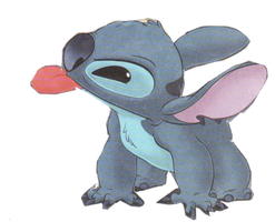 Stitch sticking out tongue by Stitchthebest36