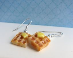 Waffle Earrings by LittleSweetDreams