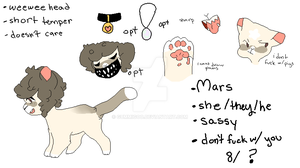 Mars Ref Sheet by gummigoo