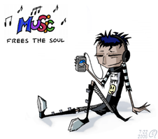 Music Frees The Soul by GalaxyDancer