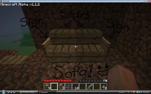 How to make sofa in Minecraft by Pwnage-Block