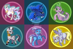 MLP buttons- set 2 by KaceyMeg