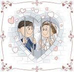 Wedding card vector design by nicoletaionescu