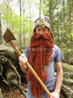 Gimli Inspired Helmet and Beard Crochet Pattern by becka2132