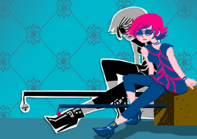 Ramona Flowers Pixel Art by The-Other-User