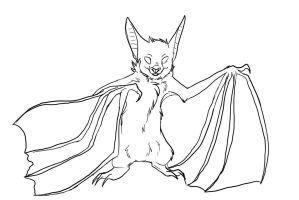 Bat lineart by Whitefeathur