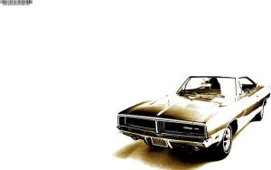 dodge charger 69 sepia by ortlibas