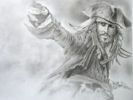 Jack Sparrow drawing by stuartclark