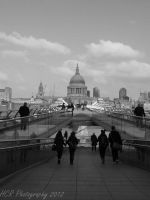 Millenium footbridge, London by purplepacific