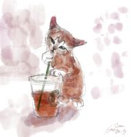 mandatory daily cat sketch 0345 by nosoart