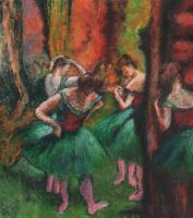 Degas's Pink and Green Dancers by AnnaSulikowska