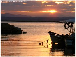 Sunset in Eretria by Kevrekidis