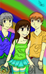 tohru,kyo,yuki and the fruits basket. by yo-yo09