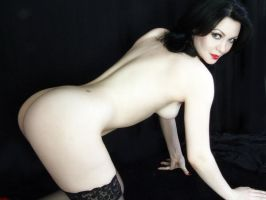 Pale Grl Nude On Black II by Snapfoto