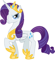 Princess Rarity vector from prettylittlewolf by Serginh