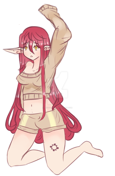 Rin Doodle by FlossyBeryy