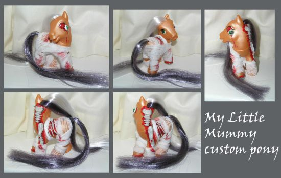 My Little Mummy custom pony by PrincessAmalthea