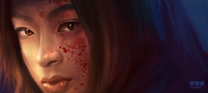 Face speedpaint by Byzwa-Dher