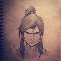 Avatar Korra sketch by Nikuwicca