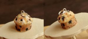 Blueberry Muffin Pendant by fairchildart